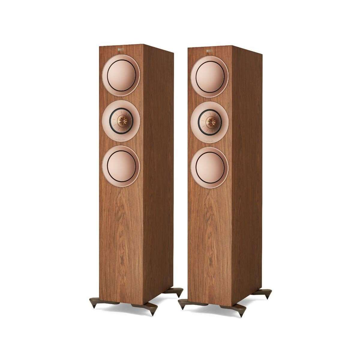 KEF R7 Floorstanding Speakers - Walnut - Call SpatialOnline 0345 557 7334