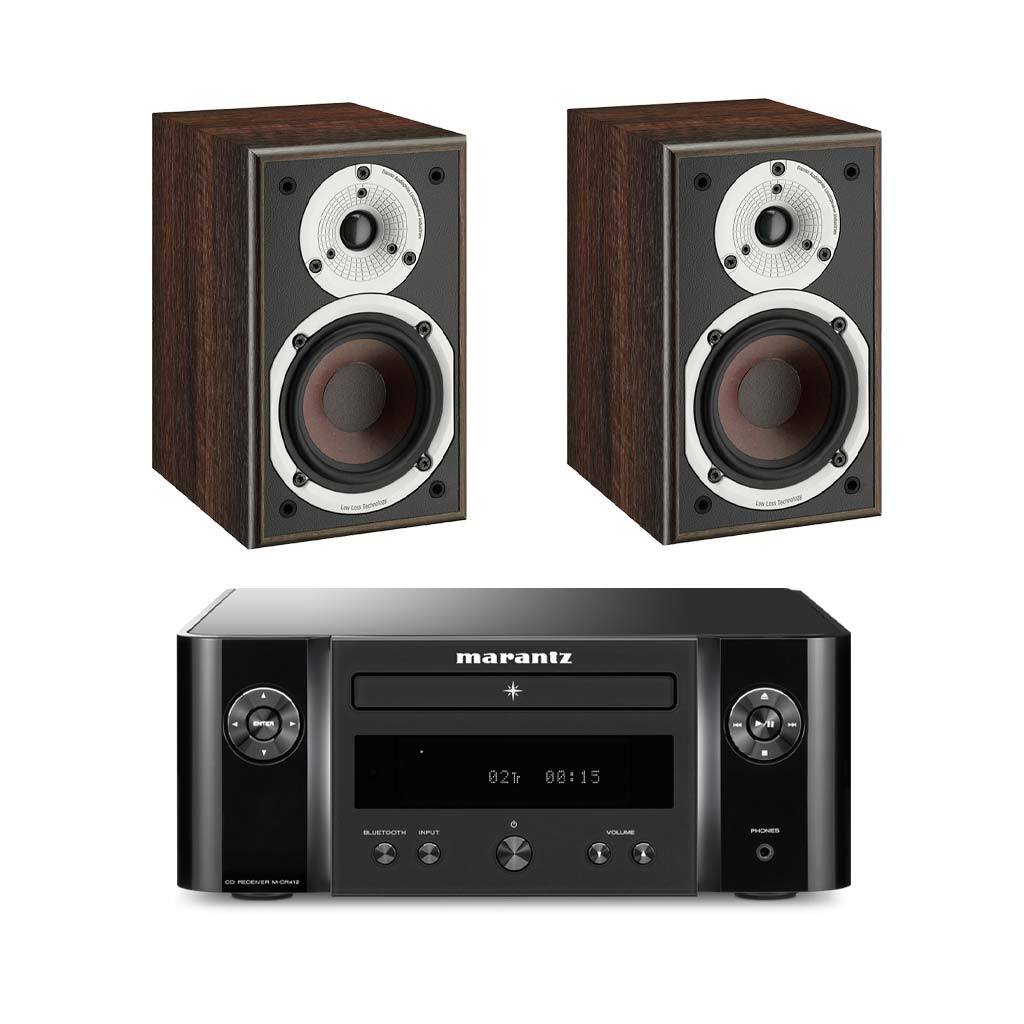 Marantz M-CR412 HiFi - Dali Spektor 1 Bookshelf Speakers