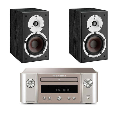 Marantz M-CR412 HiFi System With Dali Spektor 2 Bookshelf Speakers