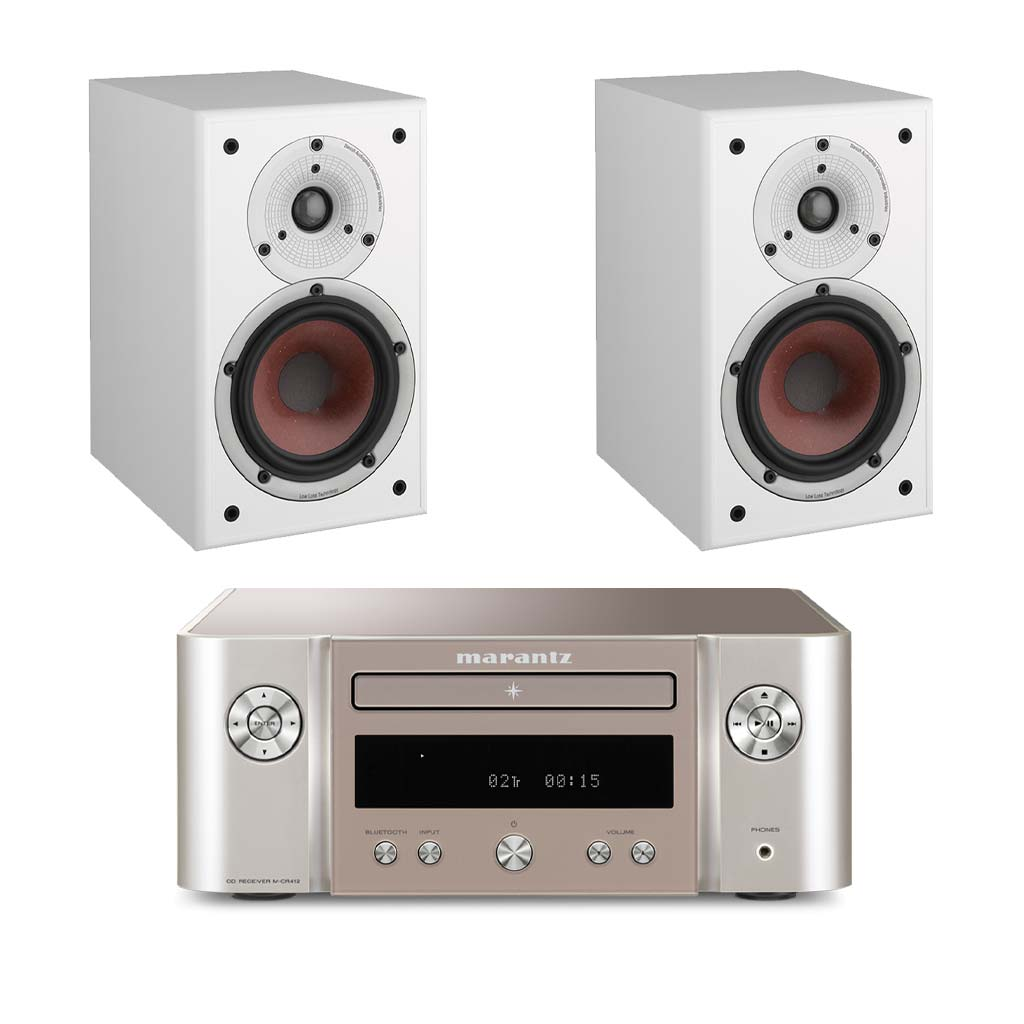 Marantz M-CR412 HiFi - Dali Spektor 2 Bookshelf Speakers