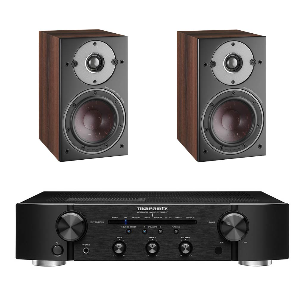 Marantz PM6007 Amplifier - Dali Oberon 1 Bookshelf Speakers