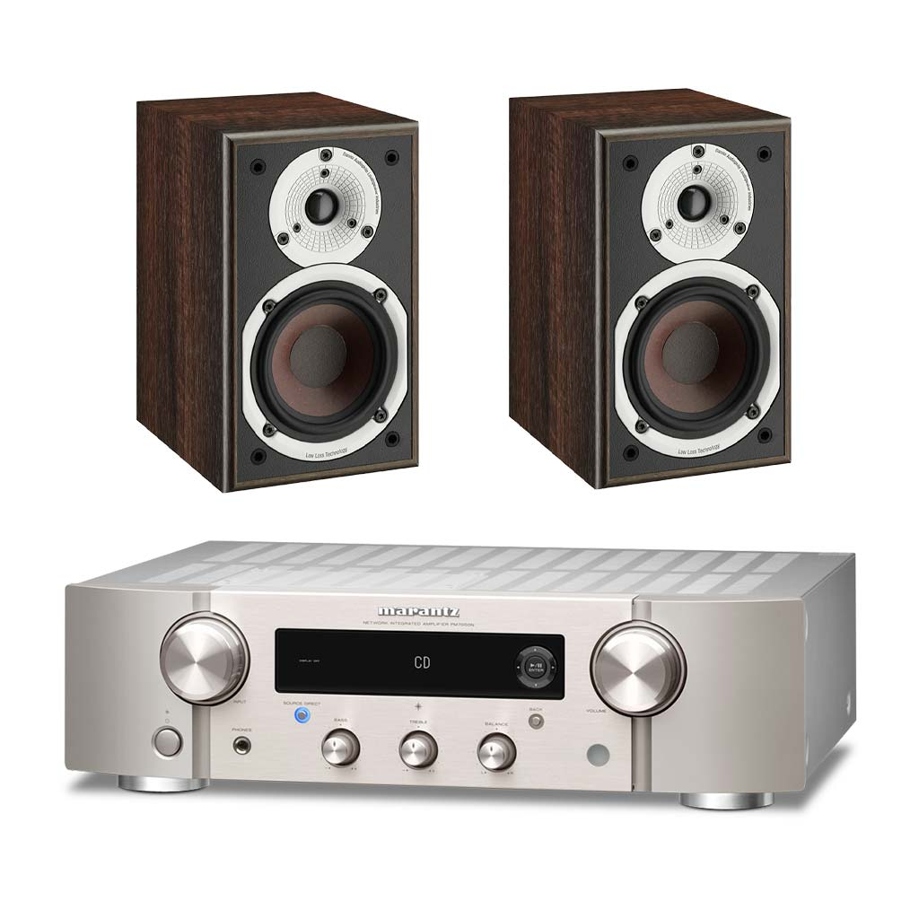 Marantz PM7000N Amplifier - Dali Spektor 1 Bookshelf Speakers