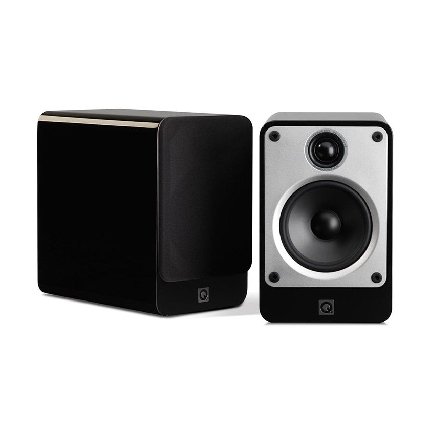 Q Acoustics Concept 20 Bookshelf Speakers in black gloss