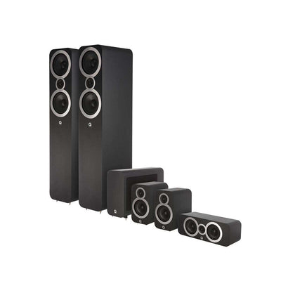 Q Acoustics Q3050i 5.1 Home Cinema Speaker Package - Carbon Black - Call SpatialOnline 0345 557 7334