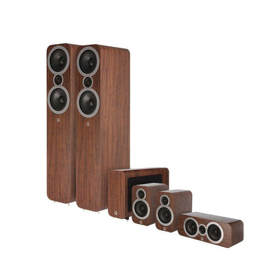 Q Acoustics Q3050i 5.1 Home Cinema Speaker Package - English Walnut - Call SpatialOnline 0345 557 7334
