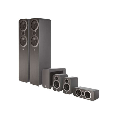 Q Acoustics Q3050i 5.1 Home Cinema Speaker Package - Graphite Grey - Call SpatialOnline 0345 557 7334
