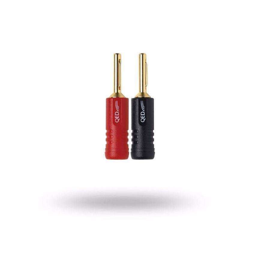QED Screwloc Banana Plug 4mm - 2 Red / 2 Black