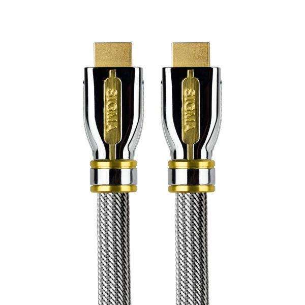 Sigma SG-HD015 1.5m High Speed 4K HDMI Cable with Ethernet - HDMI plug to HDMI plug - Call SpatialOnline 0345 557 7334