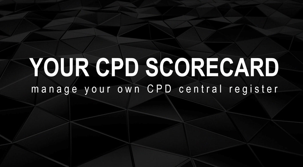 YOUR CPD SCORECARD -  Central register for all your CPD certificates -  GROUP Package (10+ users)
