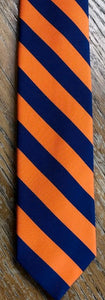 Breuer Navy and Orange Striped Tie