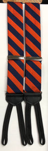 Orange and Blue Striped Braces
