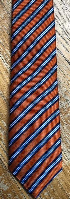 J.Z. Richards Orange with Blue Triple-Stripes Tie