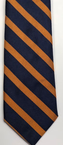 Breuer Navy with Darker Orange Stripes Tie