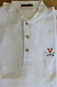 Eljo's V-Sabre White Cotton Knit Shirt