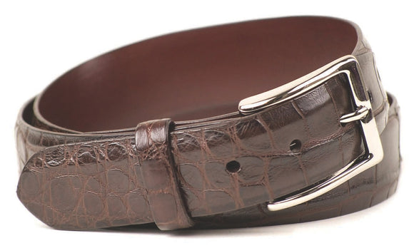 Eljo's Chocolate Brown Alligator Belt