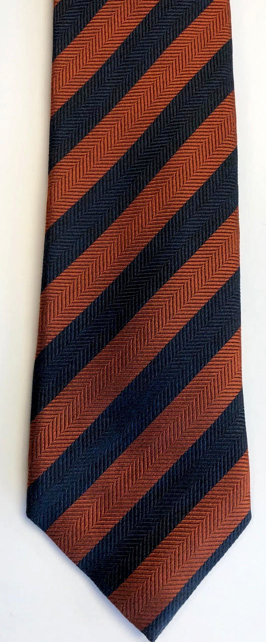 JZ Richards Navy and Darker Orange Tie