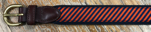 Eljo's Orange & Blue Tie Silk Belt