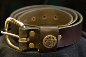 "UVA ""Shotgun Shell"" Leather Belt"