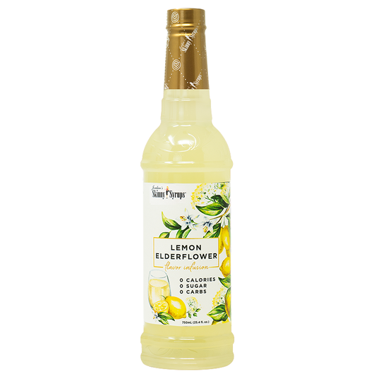 Sugar Free Lemon Elderflower Syrup