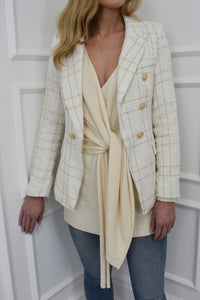 The Bali Blazer in Cream Tweed