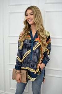The Pucci Printed Silky Tunic