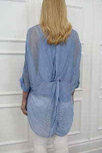 The Dee Tunic in Powder Blue