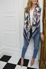 Load image into Gallery viewer, The Harri Satin Scarf in Blue