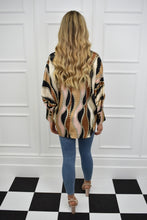 Load image into Gallery viewer, The Chloe Chain Print Silky Blouse
