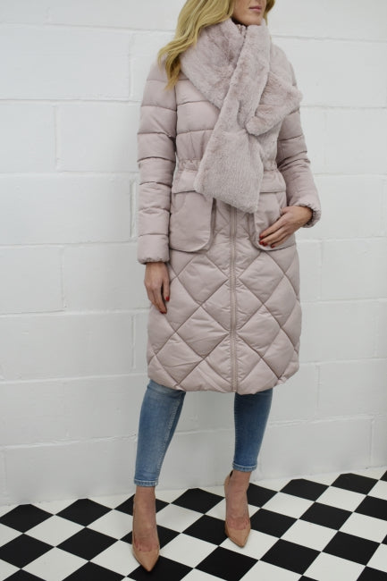 The Lux Longline Coat in Blush