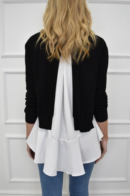 The Nikki Shirt And Jumper Combo In Black Kiss Kiss Official