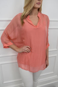 The Dee Tunic in Coral