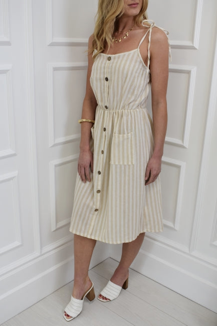 The Heidi Stripe Midi Dress