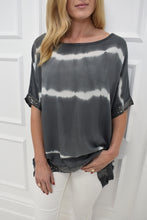 Load image into Gallery viewer, The Jude Top in Grey Dip Dye