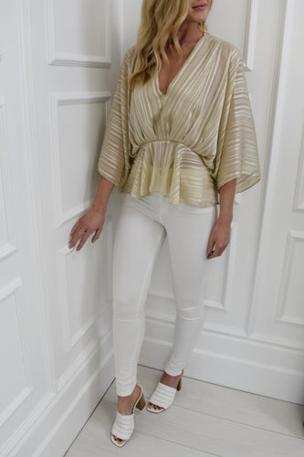 The Elle Blouse in Champagne