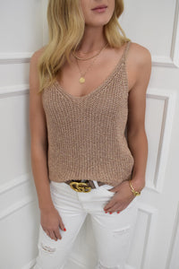 The Molly Rose Gold Cami