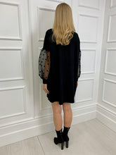 Load image into Gallery viewer, The Sienna Spot Sleeve Knitted Swing Dress
