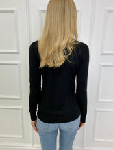 Load image into Gallery viewer, The Sally Sparkle Roll Neck in Black