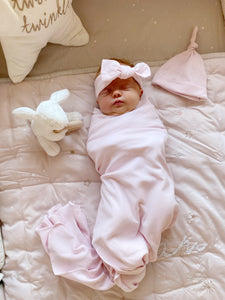 The Beau Baby Bundle in Soft Pink