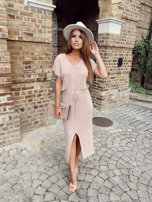 The Danielle Knit Dress in Nude