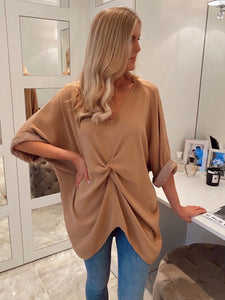 The Rose Knit Top in Camel