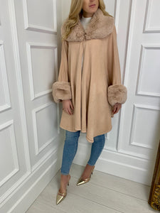The Carlton Cape in Blush
