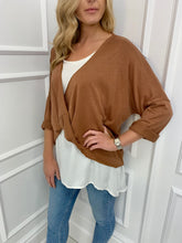 Load image into Gallery viewer, The Kylie Two in One Top in Camel
