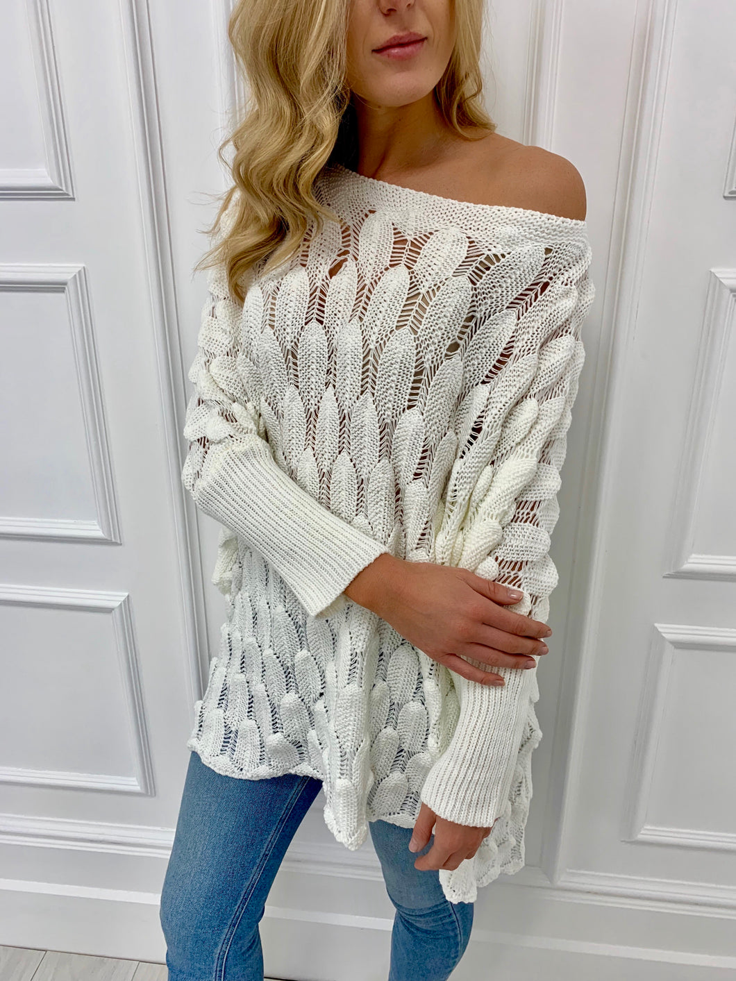 The Becky Knit in Cream