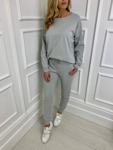 The Nadia Loungewear Set in Grey