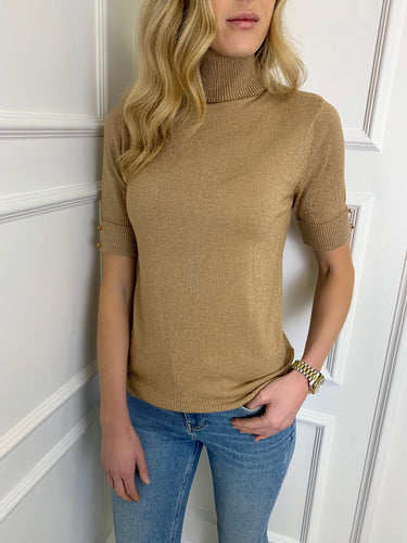 The Nadia Sparkle Knit in Gold