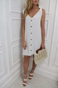 The Chantal Swing Dress in White