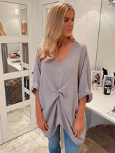 Load image into Gallery viewer, The Rose Knit Top in Grey