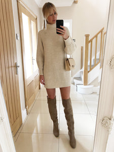 The Frankie Knitted Tunic Dress in Cream