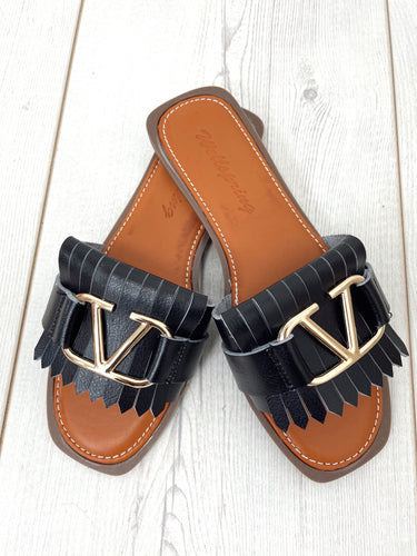 The Val Sandals in Black