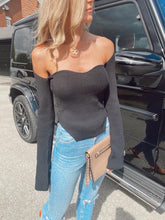 Load image into Gallery viewer, The Claudia Knit Top in Black